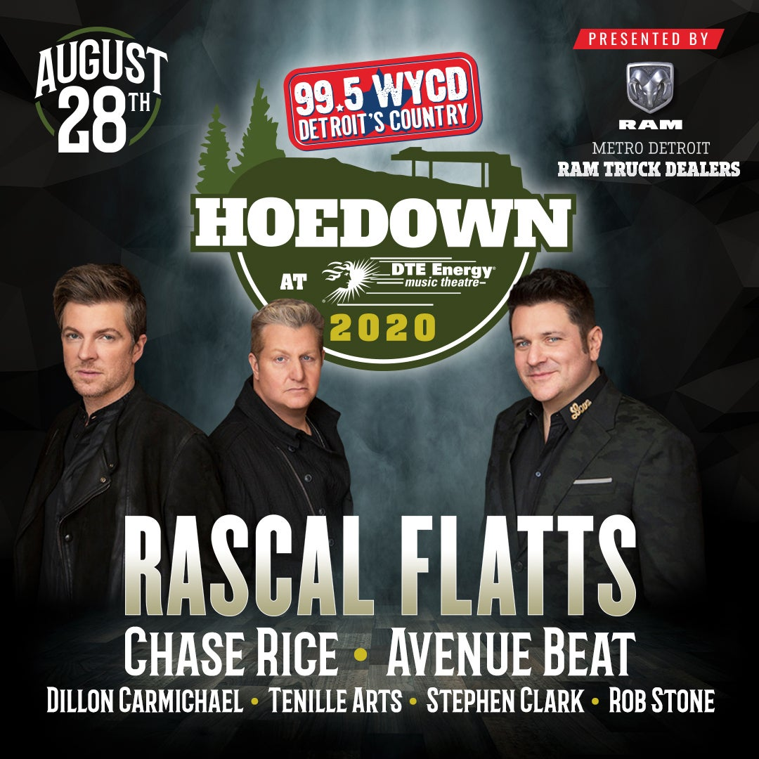 More Info for CANCELLED: 99.5 WYCD Hoedown featuring Rascal Flatts