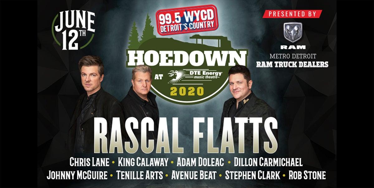 99.5 WYCD Hoedown featuring Rascal Flatts