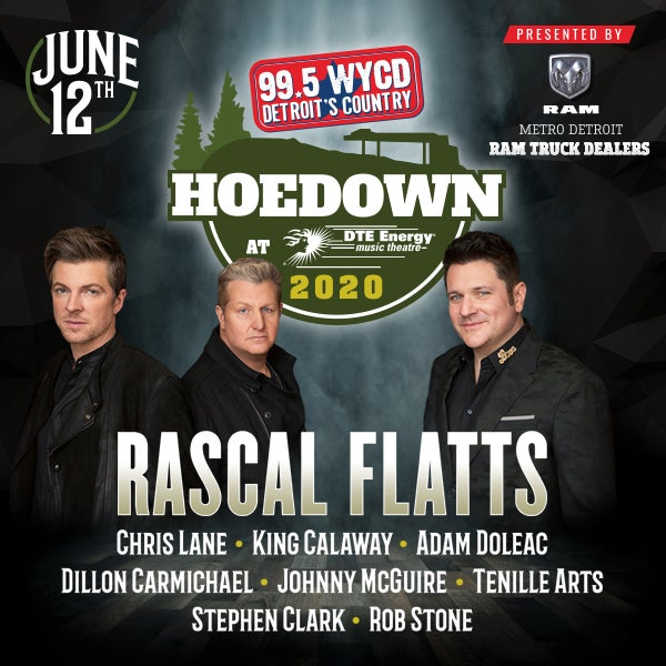 More Info for 99.5 WYCD Hoedown featuring Rascal Flatts