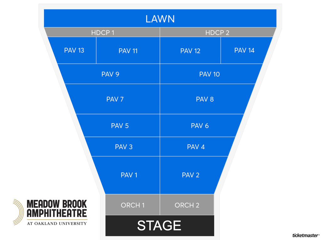 Meadow Brook Amphitheatre Seating Map