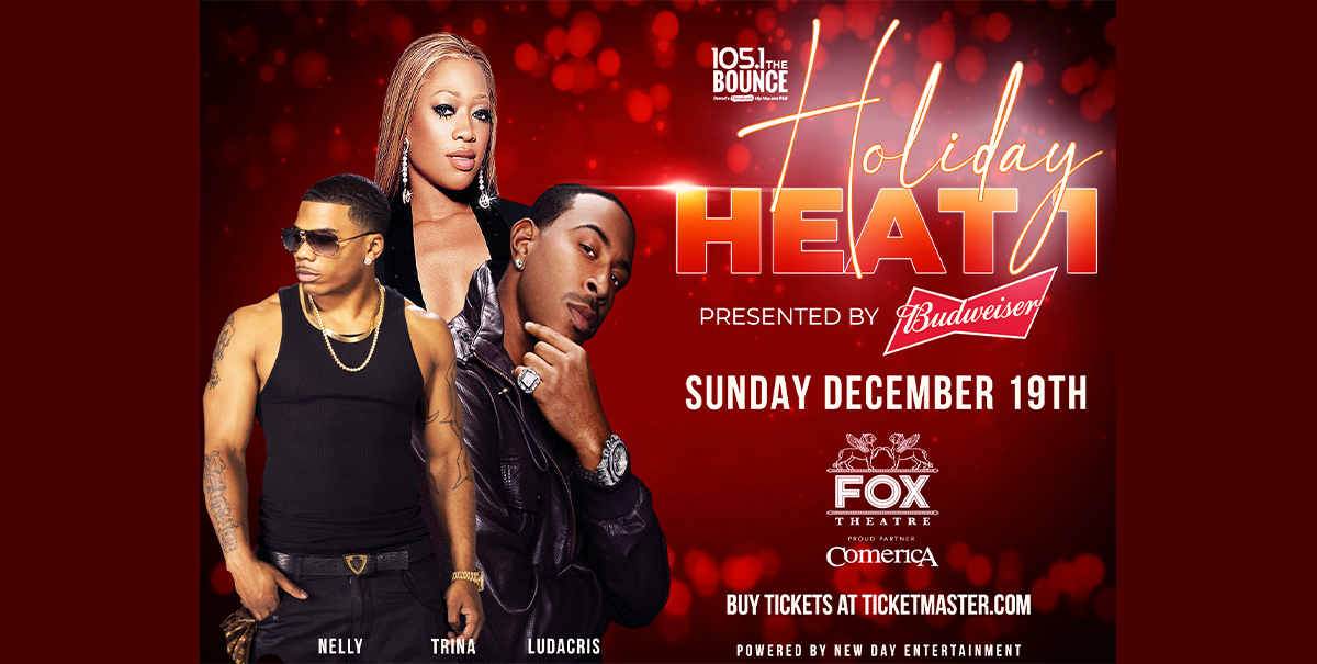 105.1 The Bounce Holiday Heat starring Ludacris and Nelly