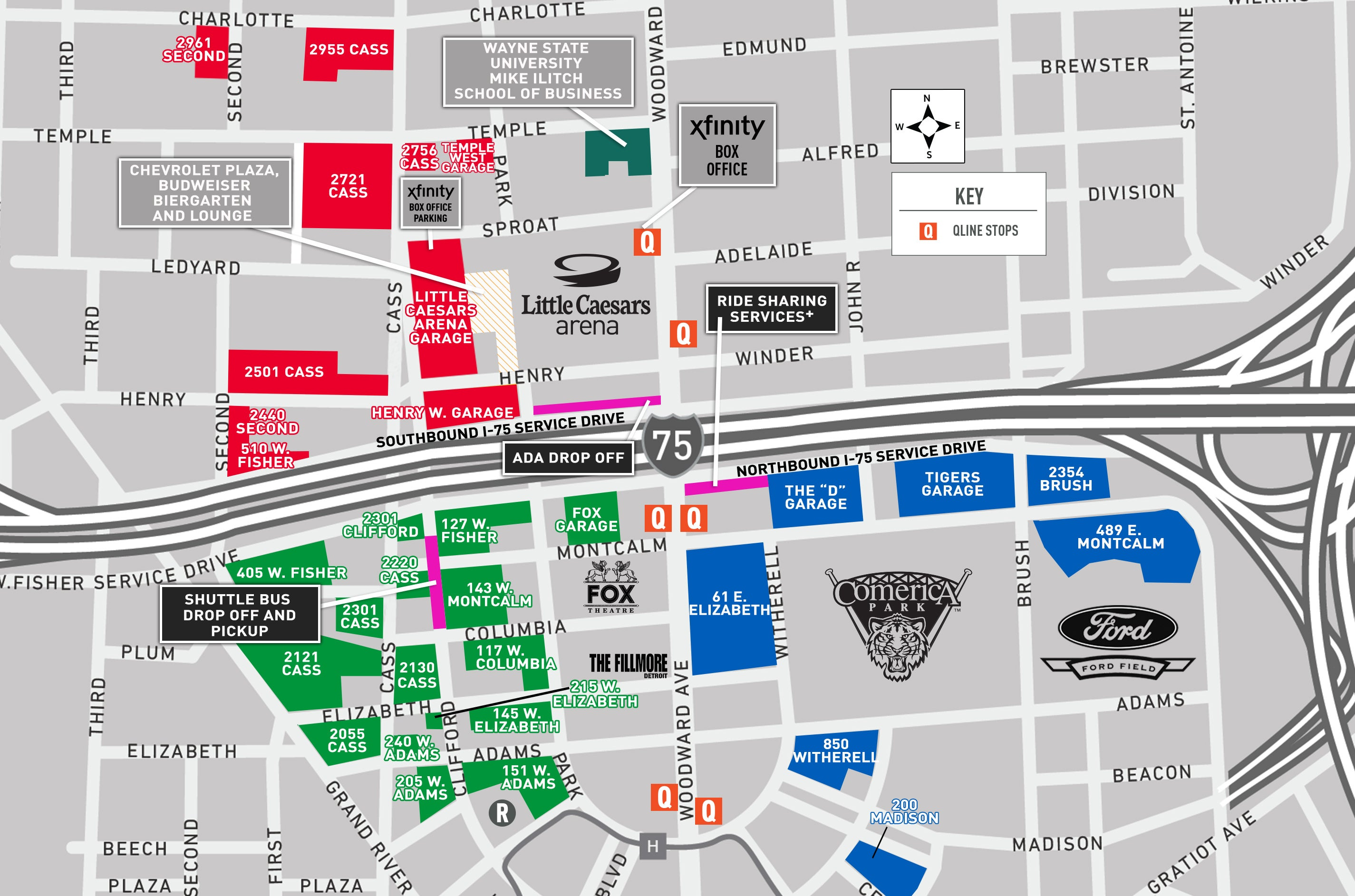 Uber Pickup Zone | Detroit Red Wings