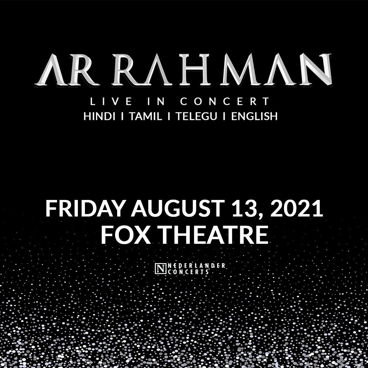 More Info for JUST ANNOUNCED: A.R. RAHMAN IS NOW CANCELED