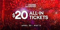 "More Info for 313 PRESENTS JOINS LIVE NATION TO LAUNCH ""NATIONAL CONCERT WEEK"" WITH $20 ALL-IN TICKET OFFER TO CELEBRATE KICKOFF TO SUMMER SEASON"