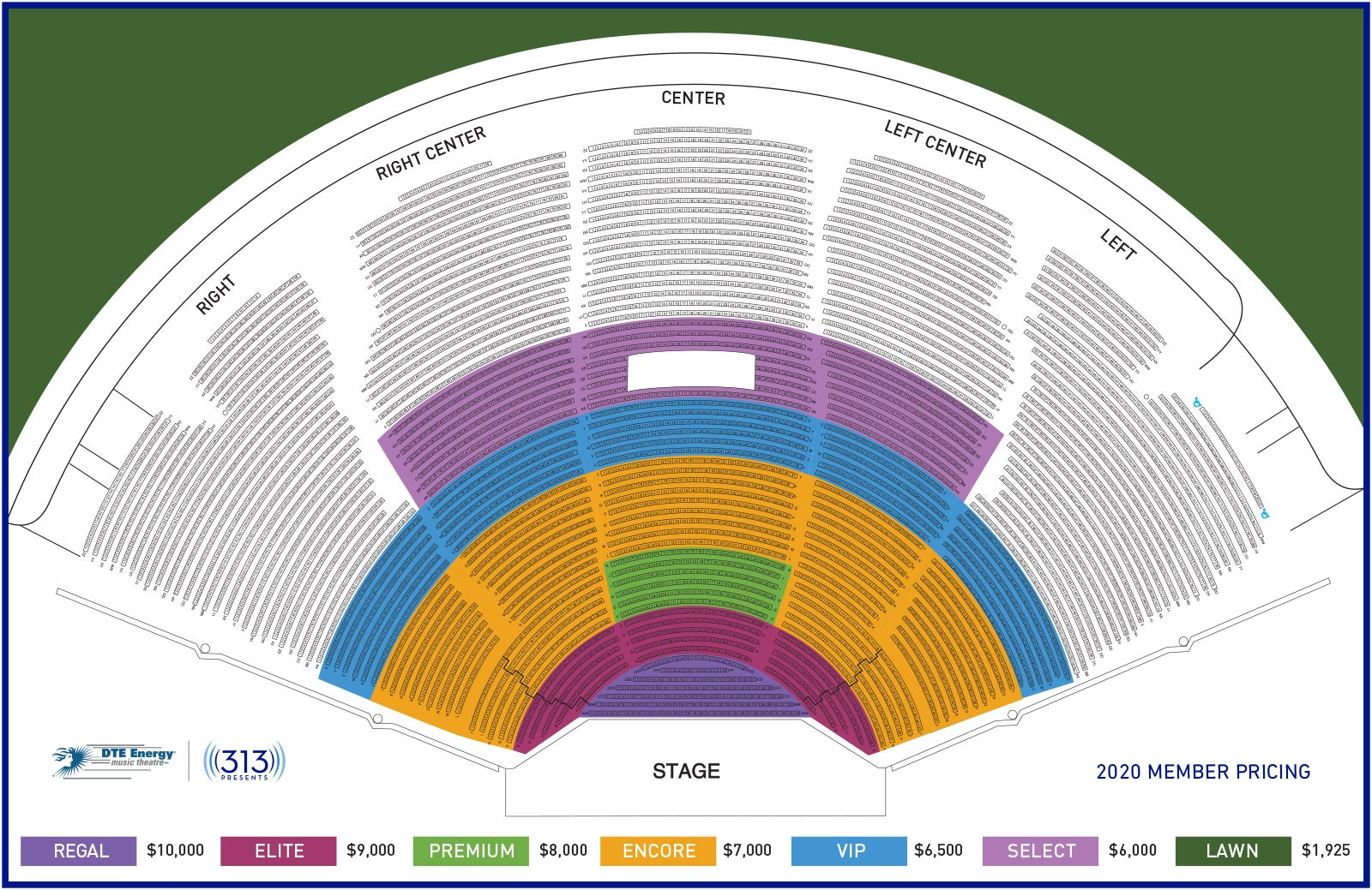 DTE Royal Pricing Map lawn sold out