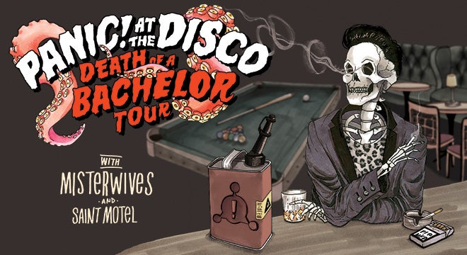Panic at the disco 313 presents panic at the disco death of a bachelor tour m4hsunfo