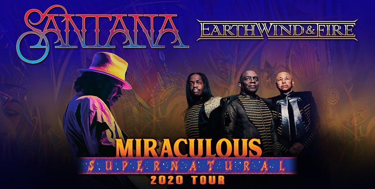 POSTPONED: Carlos Santana and Earth, Wind & Fire