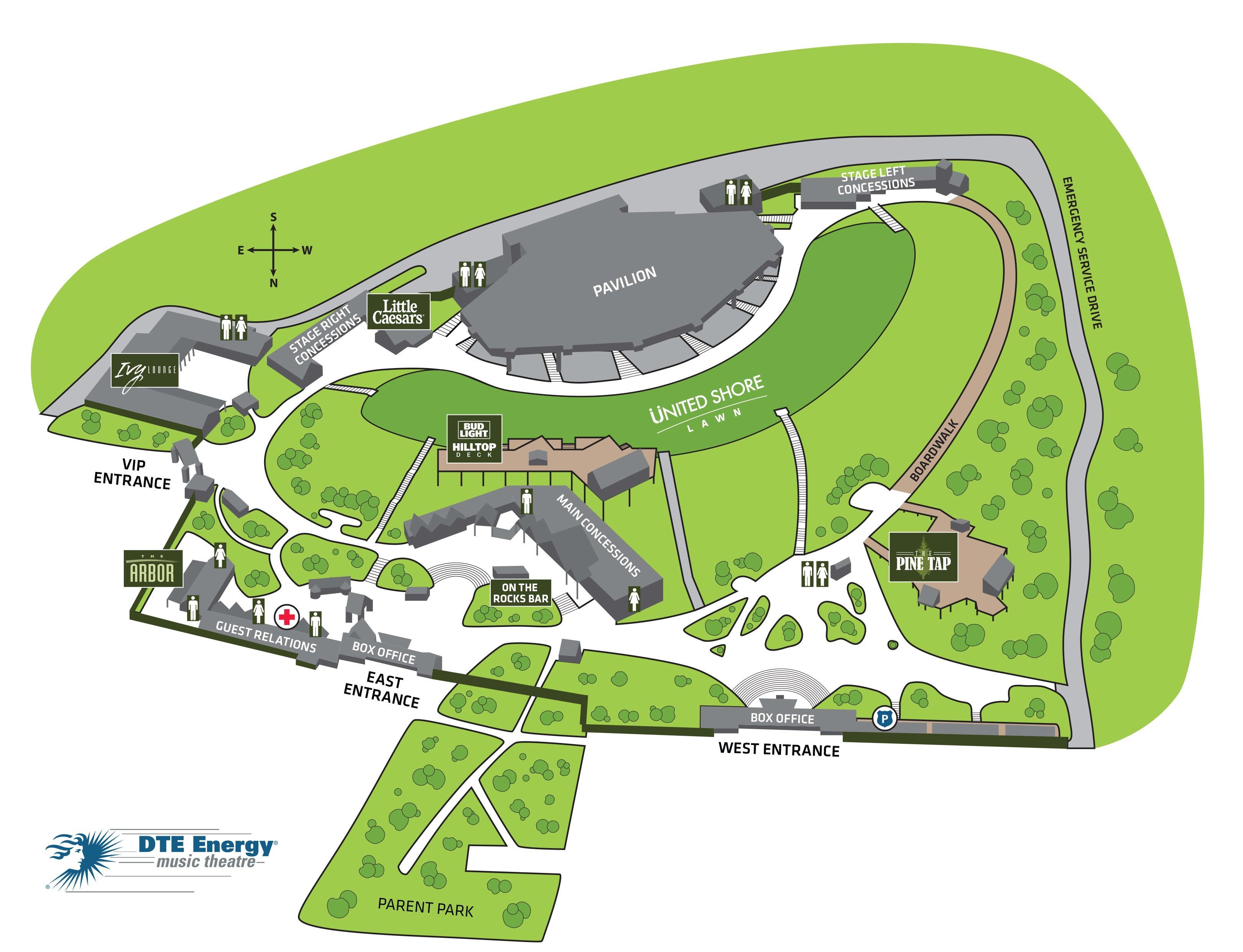 DTE Venue Map