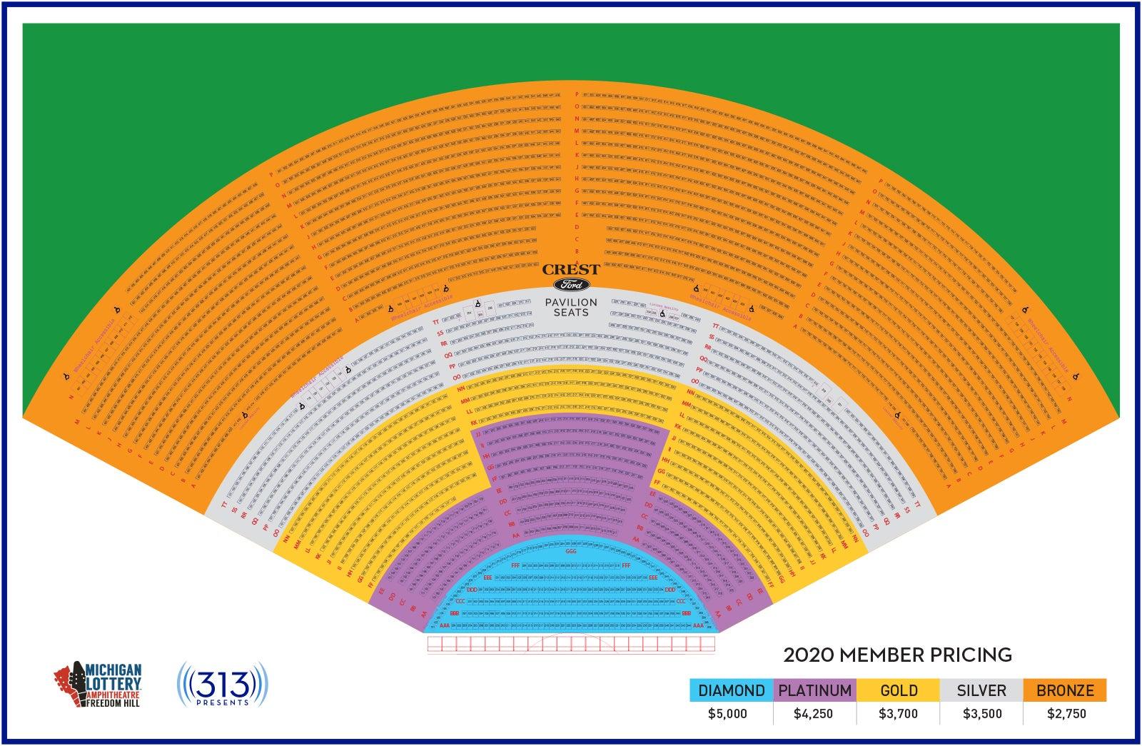 royal member seating chart