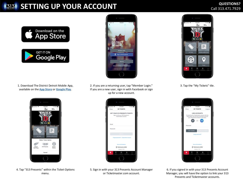 Mobile Ticketing FAQ   313 Presents