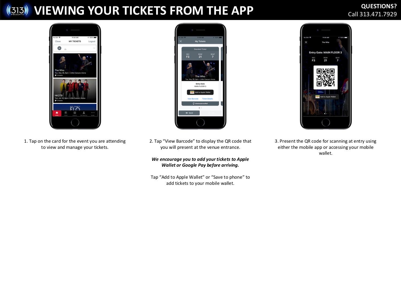 Mobile Ticketing FAQ | 313 Presents