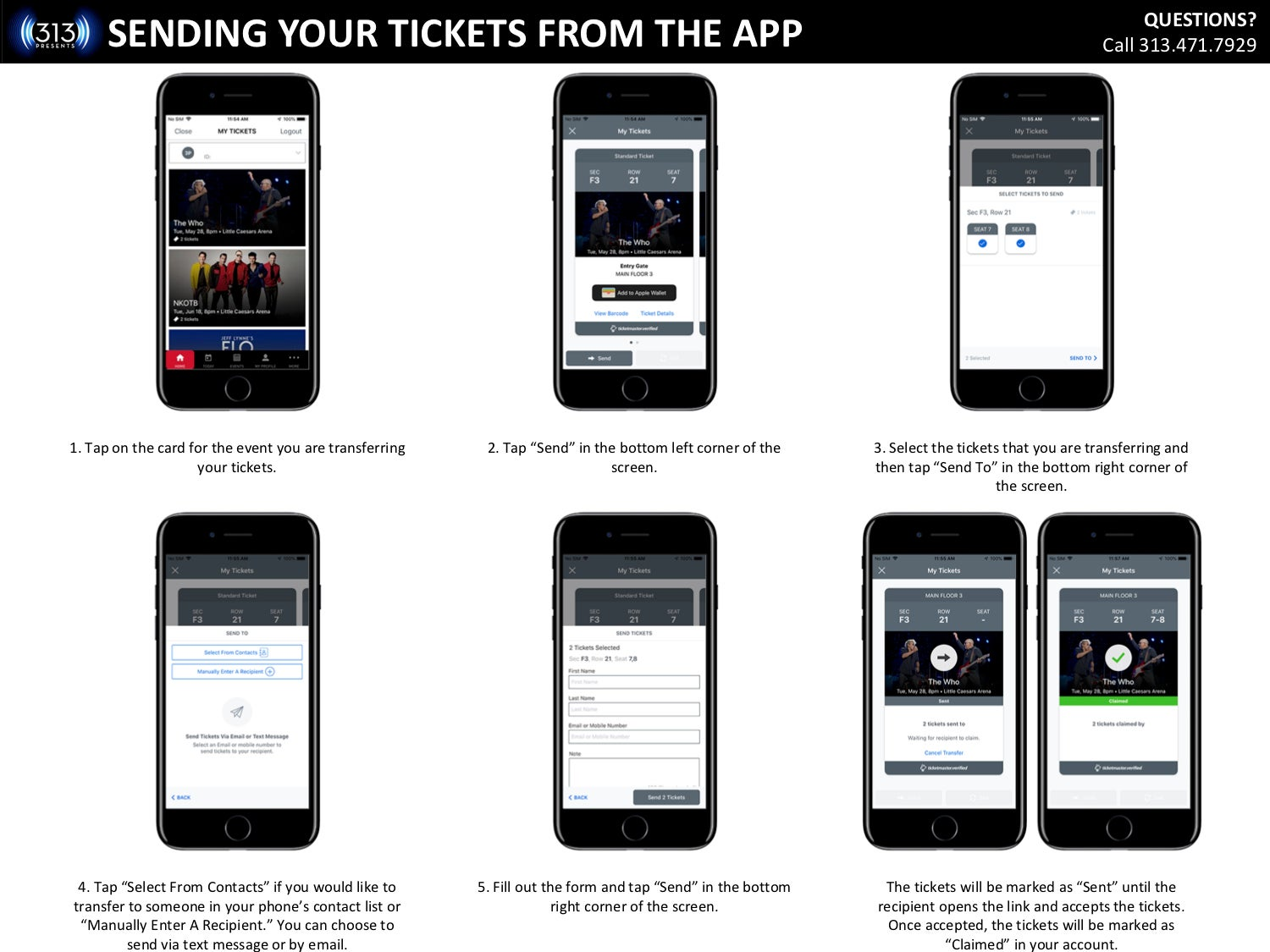 Mobile Ticketing FAQ | 313 Presents