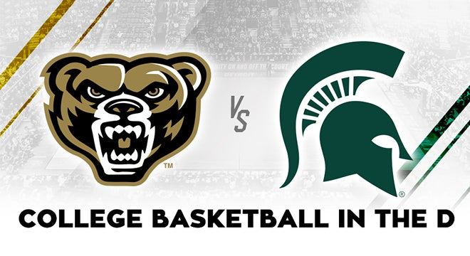 oakland university vs michigan state university college basketball 313 presents oakland university vs michigan state