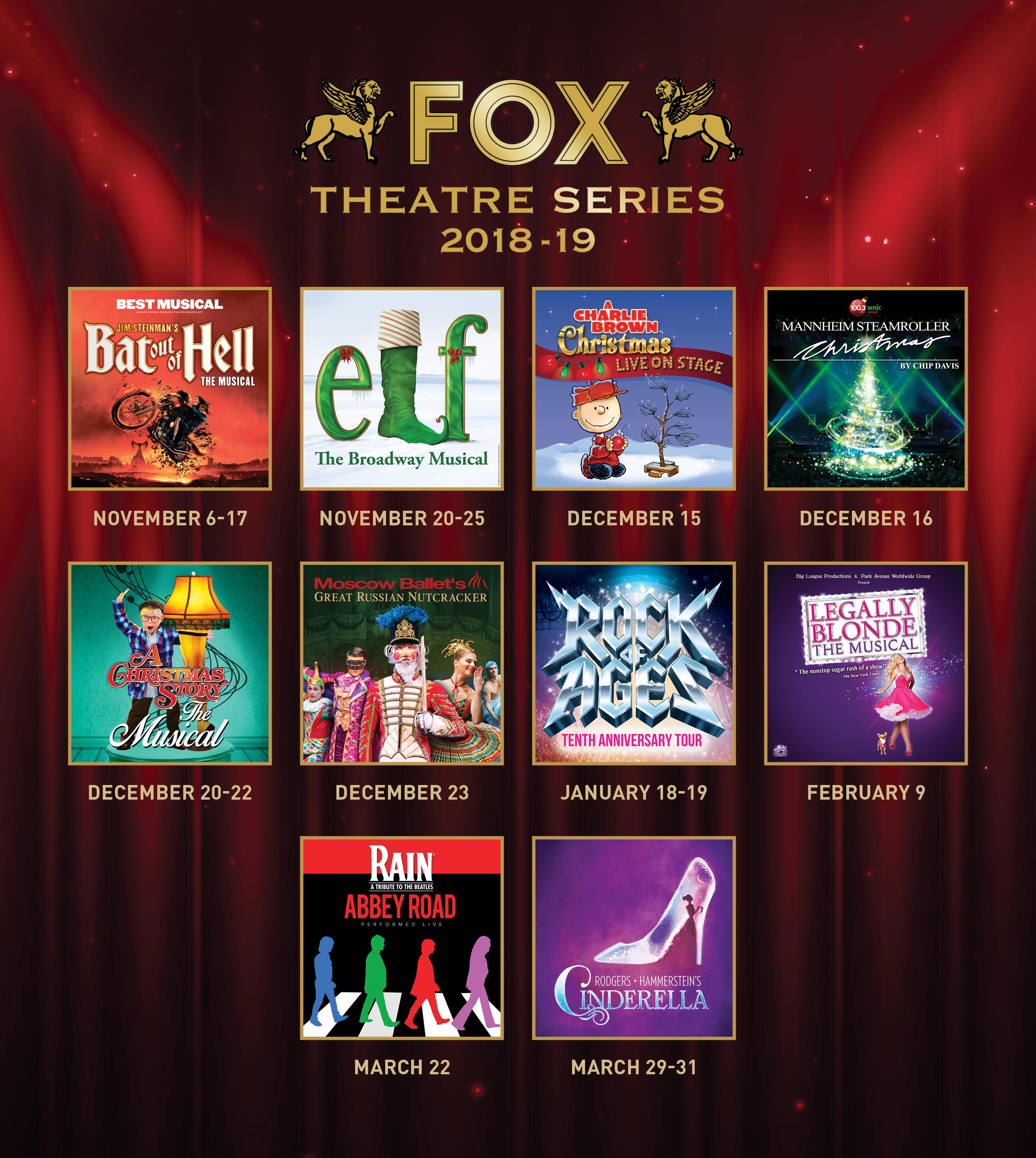 Fox Theatre Series Flyer