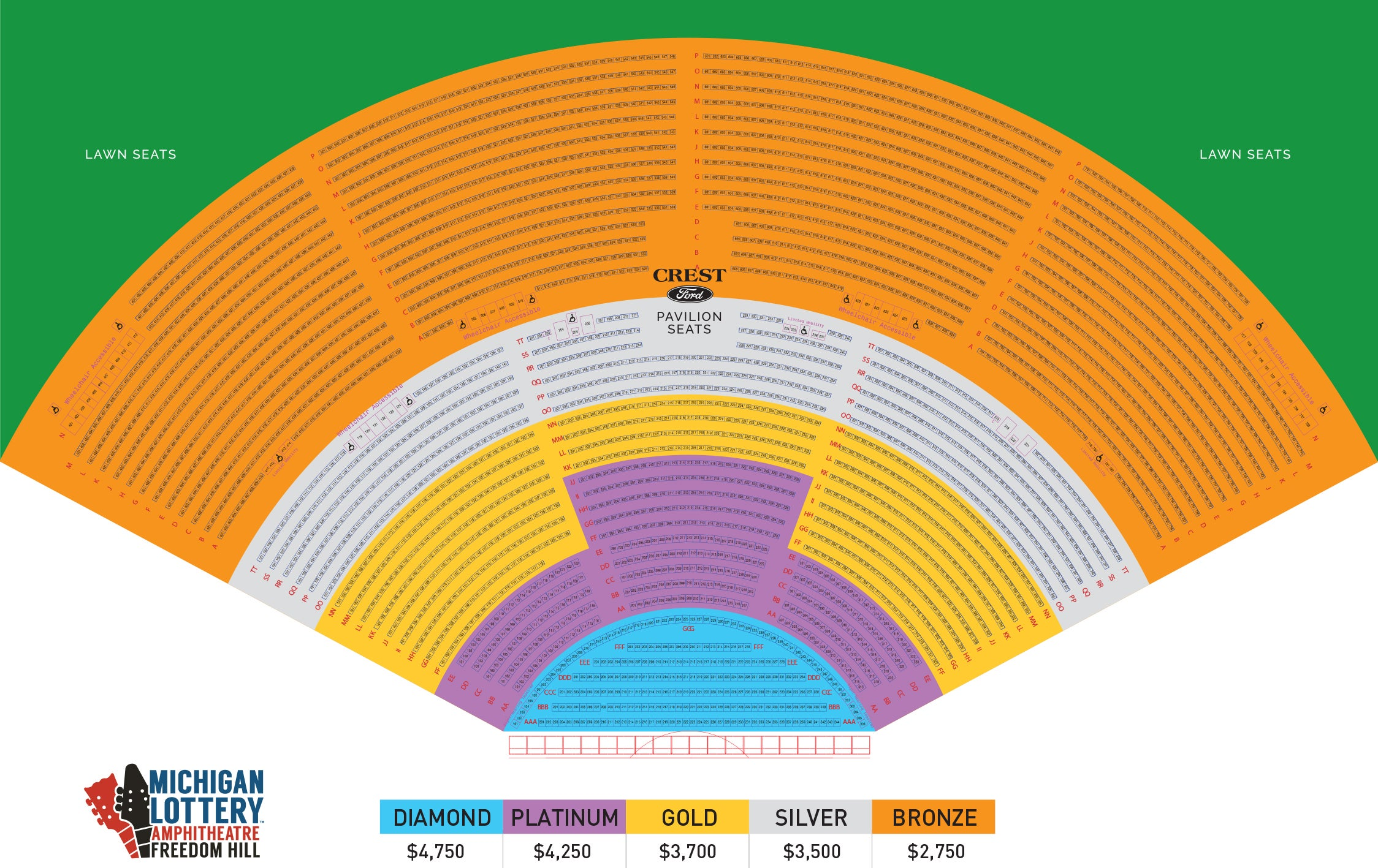 royal member seating chart