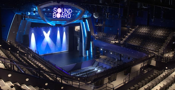 official sound board at motorcity casino hotel concert