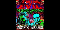 "More Info for ROB ZOMBIE AND MARILYN MANSON KICK OFF CO-HEADLINING ""TWINS OF EVIL"" NORTH AMERICAN SUMMER TOUR AT DTE ENERGY MUSIC THEATRE JULY 11"